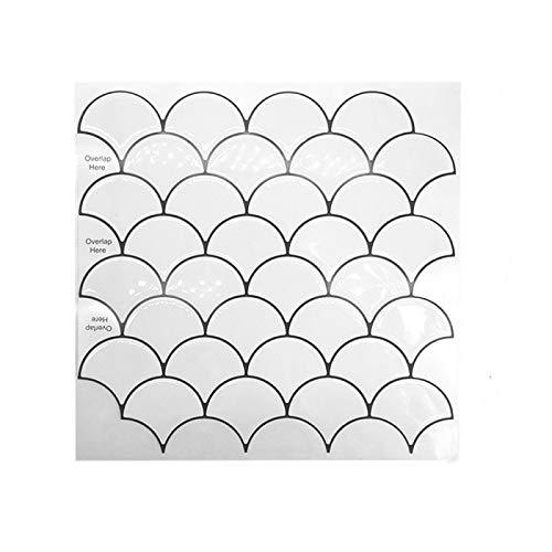 ivAZW Azulejos de Mosaico Adhesivos Pegatinas Impermeable Cocina baño decoración Papel Tapiz Vinilo Resistente al Calor 20 Piezas DJ045 (30,5x30,5 cm)