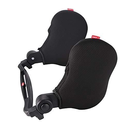 Almohada para Reposacabezas, Asiento De Carro Ajustable Almohada para Reposacabezas Soporte para El Cuello Almohada CojíN para La Siesta Negro