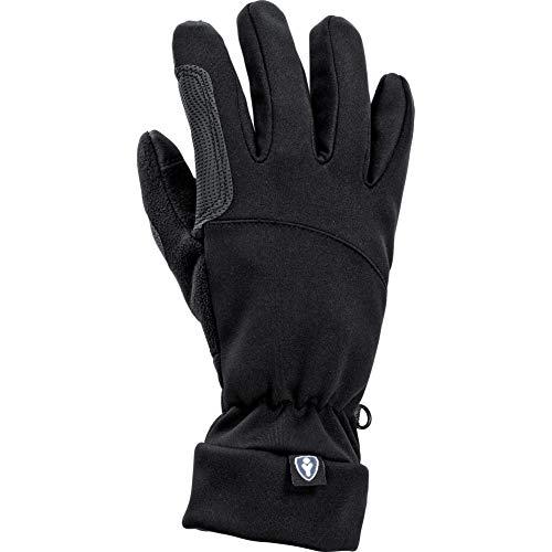 Thermoboy Unterziehhandschuhe City Handschuh 1.0, sehr weich, gutes Griffgefühl, Stretchbündchen, für Touchscreen-Gerätebedienung geeignet, Schwarz, L