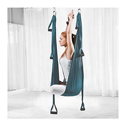 Yoga hamaca nylon antitravismo yoga swing sling inversion max 200kg carga sin elasticidad anti-gravedad parada entrenamiento entrenamiento entrenamiento aptitud equipo interior aéreo yoga columpio