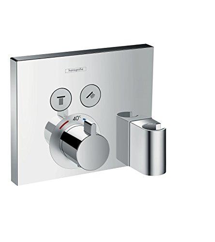 hansgrohe ShowerSelect Unterputz Thermostat mit Duschkopfhalterung, für 2 Funktionen, Chrom