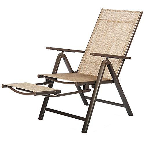 Folding chair Siesta de Oficina portátil cómodo sillón reclinable Plegable para el Almuerzo Silla Respaldo para el hogar Ocio Silla Plegable Individual