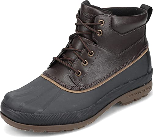 Sperry Mens Cold Bay Chukka Boots, Amaretto/Black, 11.5