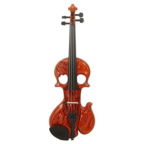 Kinglos 4/4 In Legno Massello Avanzate Cranio Elettrica/Silenzioso Violino Kit Raccordi Ebano - WXDS1914