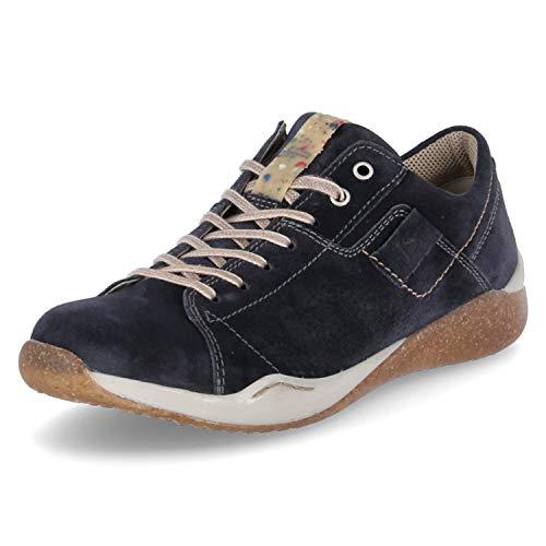 Josef Seibel Herren Schnürhalbschuhe Ricardo 08, Männer sportlicher Schnürer, maskulin Men's Freizeit leger Sneaker,Blau(Jeans),45 EU / 10 UK