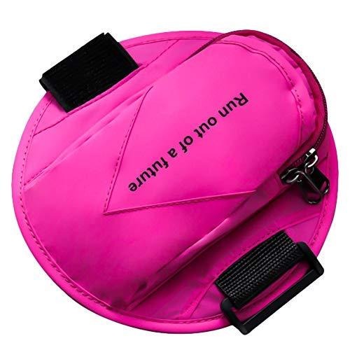 qipuneky Fascia Sportiva Da Braccio,Fascia Da Braccio Per Smartphone Con Fascia Di Estensione Riflettente Regolabile,Può Essere Utilizzata Per Smartphone Di Dimensioni Inferiori A 6 Pollici/rosa rossa