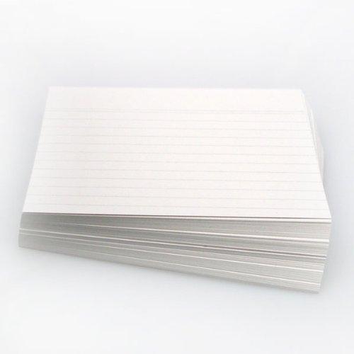 Office Line - Fichas (190 g, DIN A5, 100 unidades, con rayas), color blanco
