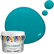 Microblend Exterior Paint and Primer - Teal/Dulce, Semi-gloss Sheen, Quart, Premium Quality, One Coat Hide, Low VOC, Washable, Microblend Blues Family