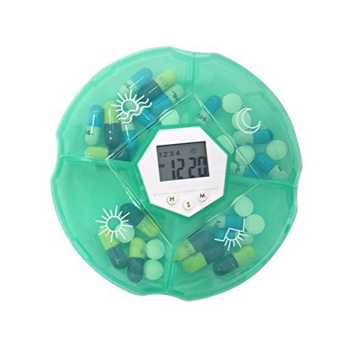 ZSHENG 6 GIRDS Pill Organizer Case Medicine Storage Dispenser Digital Allarme Promodori Tablet Pill Box Strumenti Medici