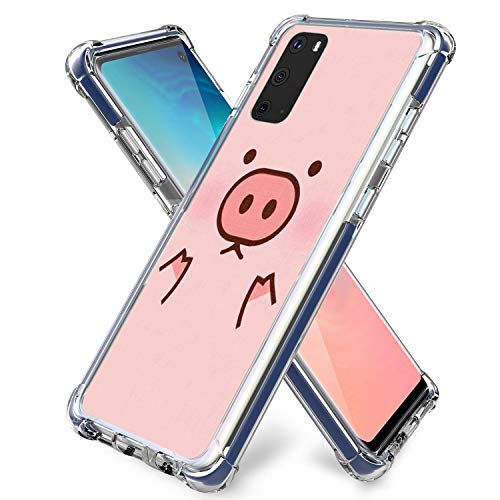 Pig Case for Galaxy S20,Gifun Hard PC+ TPU Bumper Design Protective Case for Samsung Galaxy S20 Release - Pink Pig