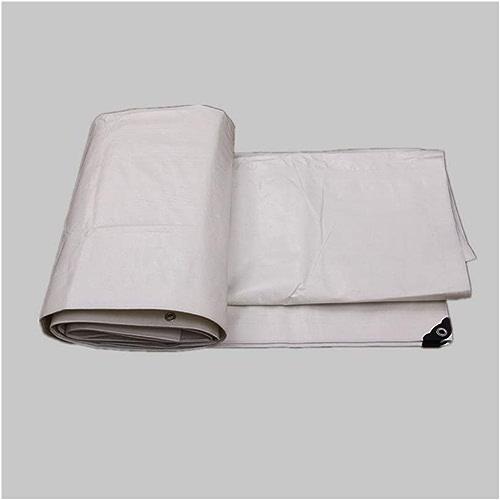 AJZXHE Bache étanche Tissu étanche à la Pluie Tissu Voiture Camion bache extérieure Soleil Prougeection Solaire antioxydant, Blanc -Tente