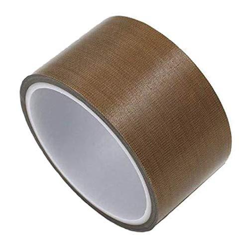 Teflon-Klebeband für Vakuumiermaschine, FORTSPANG Hochtemperatur-Klebeband, PTFE-Klebeban, passend für FoodSaver, Seal A Meal, Weston, Selbstklebend, 50mm x 10m