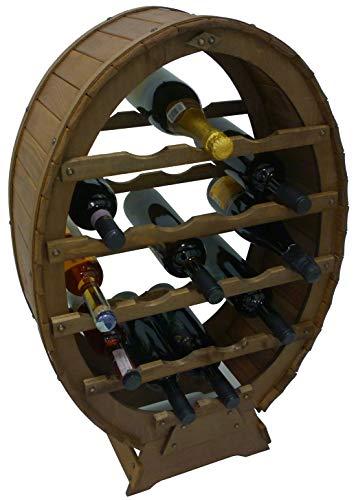 Mobile porta bottiglie cantinetta in legno 18 posti a botte