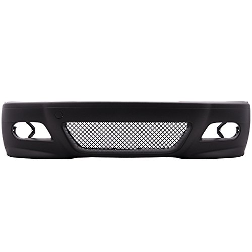 Front Bumper Conversion Compatible With 1999-2005 BMW E46 3 Series 4 Door Sedans | M3 Style PP Black Bumper Cover Conversion Bodykit by IKON MOTORSPORTS | 2000 2001 2002 2003 2004