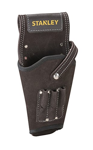 STANLEY Leather Drill Holster, 3 x Small Pockets for Drill Bits Organiser , STST1-80118