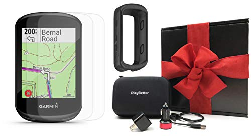 Garmin Edge 830 Bike Computer Gift Box Bundle | +PlayBetter Silicone Case, Screen Protectors, Car/Wall Adapters & Hard Case | Touchscreen, Mapping | Cycling GPS (Black, GPS Only)