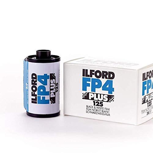 Ilford FP4 Plus - Carrete de 24 Exposiciones Película analógica, blanco y negro
