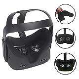 Carplink Silicone Masque De VR pour Oculus Quest Casque de réalité virtuelle All-in-One Coussin De Couverture De Visage Housse Noir