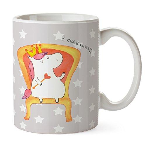 Mr. & Mrs. Panda kantoor, ontbijt, beker Eenhoornkoning - Kleur Grijze Pastel