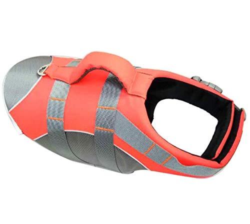 Waymeduo - Chaleco salvavidas para perros y mascotas, color naranja, 25 x 17 x 5 cm