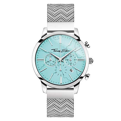 Thomas Sabo Unisex Analog Quarz Uhr mit Edelstahl Armband WA0366-201-215-42 mm