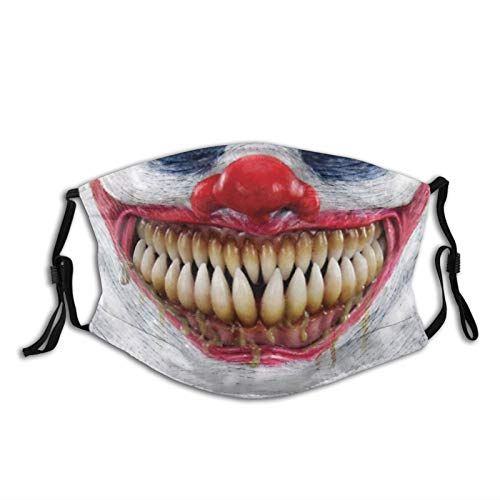 Scary Demon Clown Horror Face Mask Unisex Balaclava Mouth Cover With Filter Windproof Dustproof Adjustable Mask