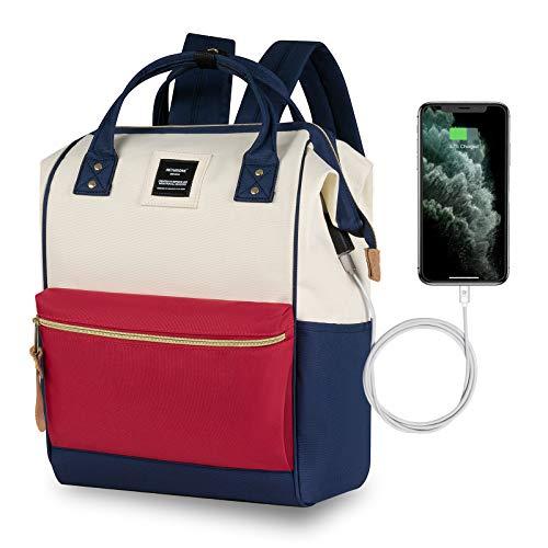 Zaino Donna Scuola Porta PC 15.6 Pollici per UniversitÃ, Viaggio, Lavoro, Stile Casual con USB