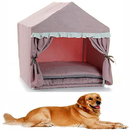 Sea blog HundehüTte Haustiernest, FüR Katzen Und Hunde, Tragbar Faltbare, 53 * 43 * 55cm,Pink