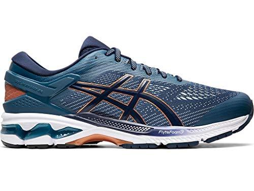 ASICS Men's Gel-Kayano 26 Running Shoes, 6.5M, Grand Shark/Peacoat