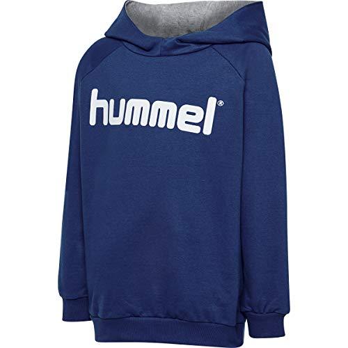 Hummel Kinder HMLGO KIDS COTTON LOGO HOODIE Kapuzenpullover, True Blau, 152