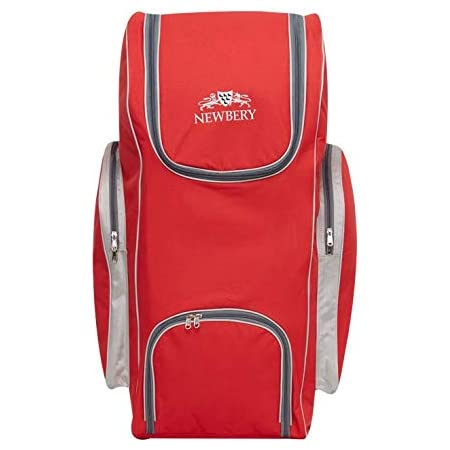 One Size Newbery Cricket Big Duffle Bag Red//Silver