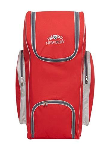 Newbery Cricket Big Duffle Bag, Einheitsgröße, Rot/Silber
