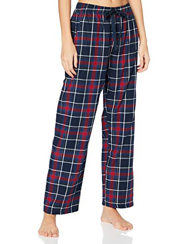Women' Secret Pantalón Largo de Pijama Franela corazón, Kaki Oscuro, L para Mujer