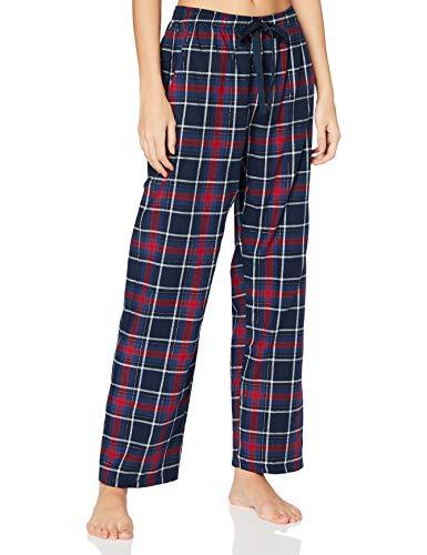 Women' Secret Pantalón Largo de Pijama Franela corazón, Kaki Oscuro, M para Mujer