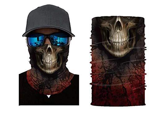 FEIGER Unisex Bandana Gesichtsmaske Schal Balaclava Halloween Clown-Party-Partei-Schablonen-Staub Tuch waschbares Wind Motorrad Radfahren Mask,G