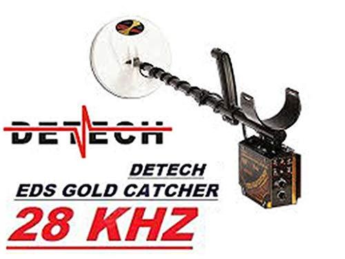 DETECH VLF EDS Gold Catcher de 28 kHz con bobinas de 6 y 10 Pulgadas (diseño Cerrado), Sistema de batería Recargable, con una Caja de Dibujos Animados de Lujo incluida