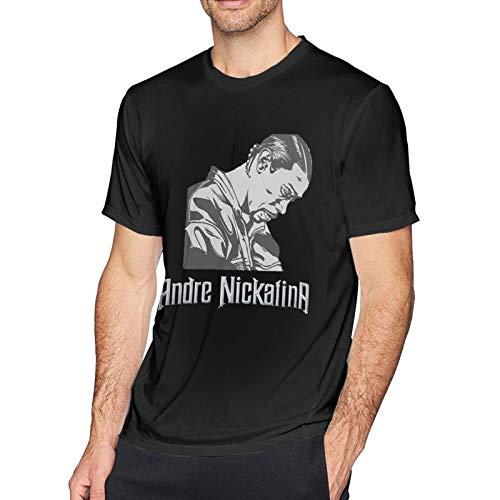 RebeccaMBrown and-re Nick-atina Men's T-Shirts Fashion Short Sleeve Top Tee Black