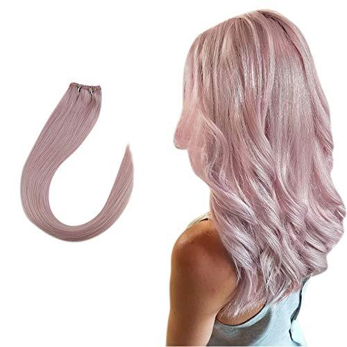 Easyouth® Naturel Tissage Bresilienne Lisse Color Lilac for Cosplay - Rose Clair Extensions De Tissage Remy Brésilien (1 Pcs: 14\