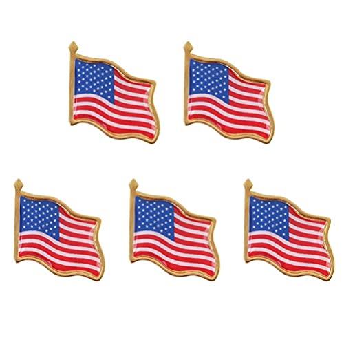 ABOOFAN Pin de solapa de la bandera americana, 10 unidades, patriótico de los Estados Unidos, sombrero de los Estados Unidos, corbata de la insignia para el día de la independencia