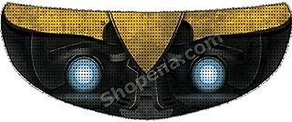 SkullSkins Bumblebee Transformers Universal Full Face Motorcycle Helmet Windscreen Graphic Visor Tint Shield Sticker Decal