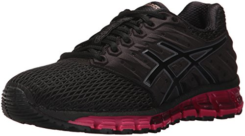 ASICS Women's Gel-Quantum 180 2 Running Shoe, Black/Black/Cosmo Pink, 9 Medium US