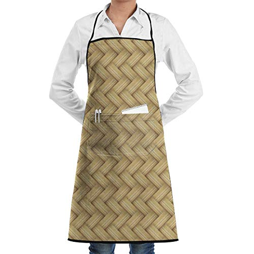 Lawenp Wicker Apron with Pockets Locked for Kitchen Chef Artist Grill BBQ Shop Baking (20.5 X 28.3 Inches)