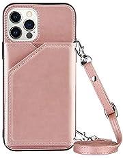 Portemonnee Creditcardhouder met Lanyard Telefoon Case voor iPhone 12 Pro Max (6,7 inch)