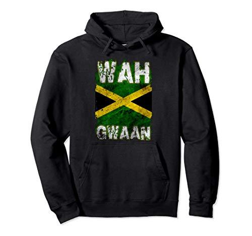 Jamaika-Hemd Wah Gwaan Rasta Cool Distressed Jamaican Flag Pullover Hoodie