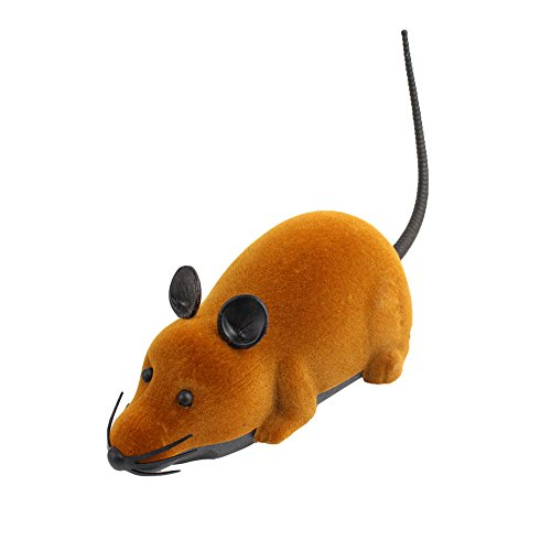 Fdit - Giocattolo radiocomandato a forma di topo, con mini telecomando, ideale come regalo di Natale per bambini di 3+ anni, colore marrone