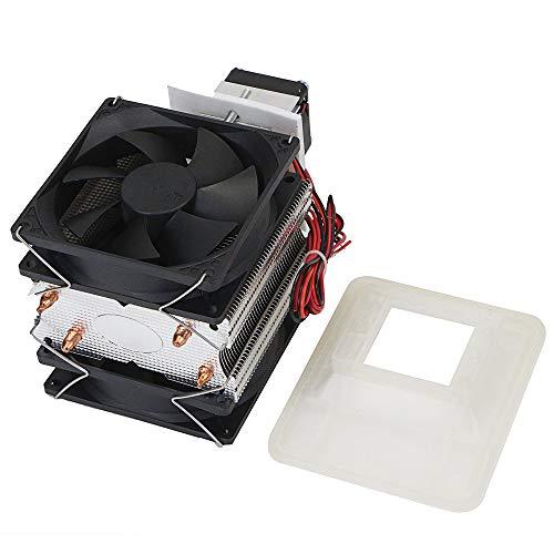 FairytaleMM 12V 5A DIY elektronische halfgeleider-koelkast, koeler, koeler, ventilator, snelkoeling, eenvoudige bediening, zwart