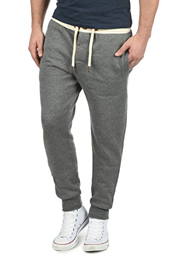 !Solid TripPant Herren Sweatpants Jogginghose Sporthose Mit Fleece-Innenseite Und Kordel Regular Fit, Größe:L, Farbe:Grey Melange (8236)