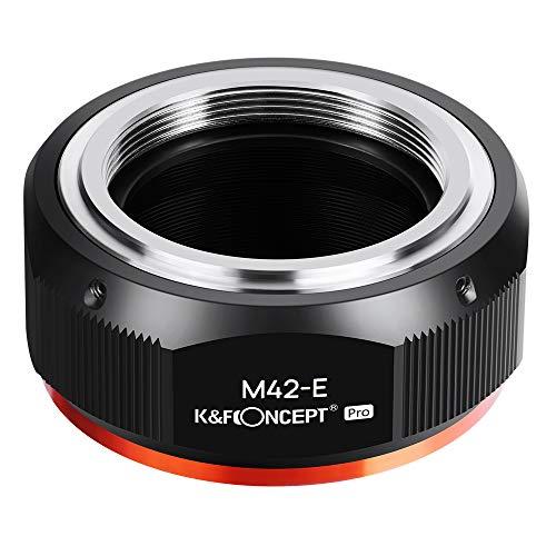 K&F Concept 【2020進化版】 マウントアダプター M42レンズ-SONY NEX Eカメラ装着 PROⅡ 艶消し仕上げ 反射防止 無限遠実現 M10105 メーカー直営店