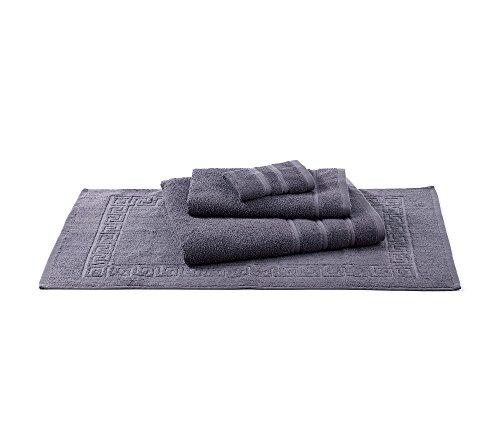 Living Quarters Plush Towel Collection Gray Tubmat