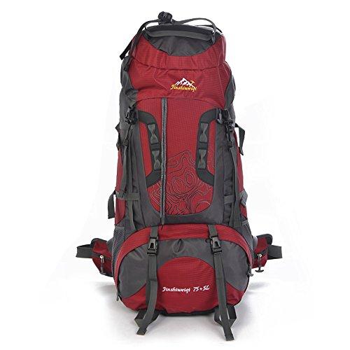 TY-Outdoor backpack MMM @ Impermeable Senderismo Mochila, Oxford Mochila Al Aire Libre Deporte Viaje Trekking Correr Hombres 80L Mochila